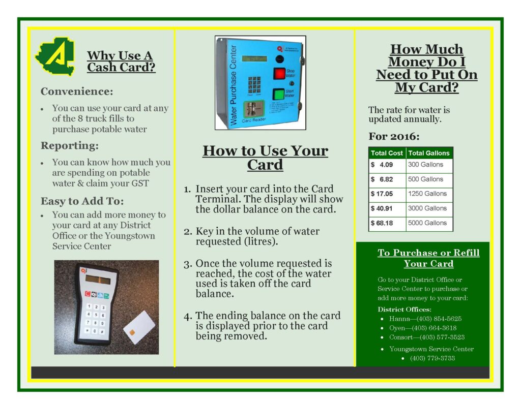 water cash card brochure - page 2